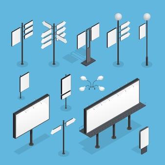 Zestaw izometryczny billboard
