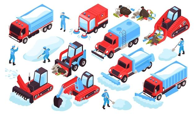 Zestaw izometryczny do czyszczenia pojazdów drogowych i pracowników