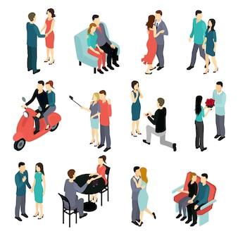 Zestaw izometryczny kochających się par