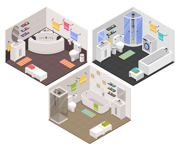 Zestaw izometryczny łazienki