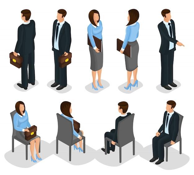 Zestaw izometryczny ludzi biznesu