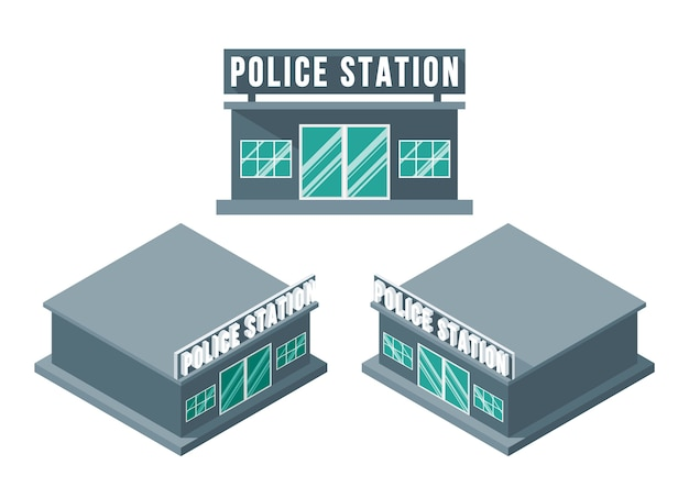 Zestaw izometryczny posterunek policji