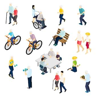 Zestaw izometryczny życia emerytów
