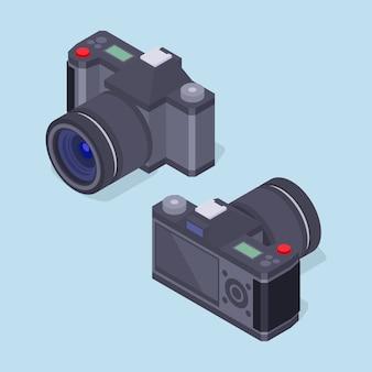 Zestaw izometrycznych aparatów fotograficznych