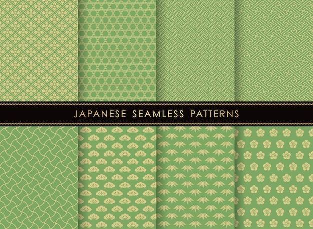 Zestaw japońskich bez szwu wzorów
