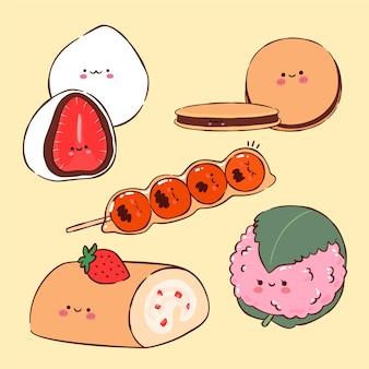 Zestaw japońskiego deseru kawaii