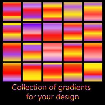 Zestaw jasnych gradientów zachodu i wschodu słońca.