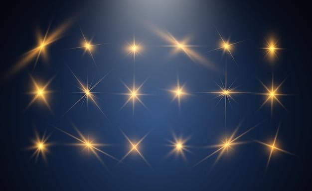 Zestaw jasnych pięknych gwiazd