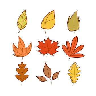 Zestaw jesień tematu ilustracja kreskówka szablon projektu