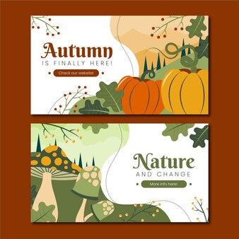 Zestaw jesiennych banerów