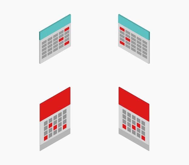 Zestaw kalendarzy izometrycznych