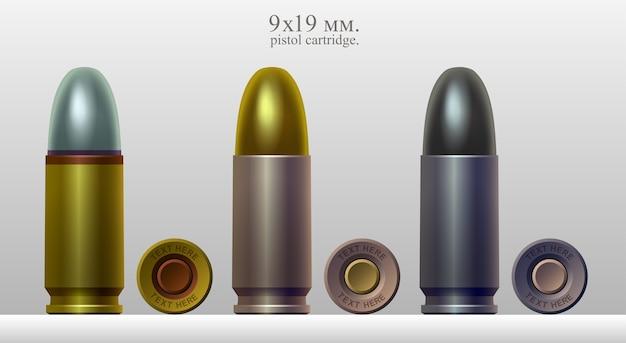 Zestaw kalibrów nabojowych