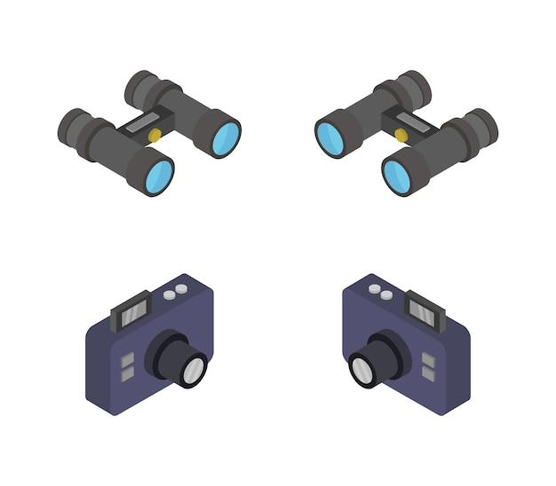 Zestaw kamery izometrycznej i lornetki