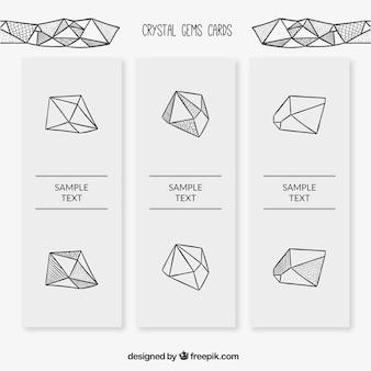 Zestaw kamień doodle karty