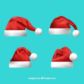Zestaw kapelusz santa claus