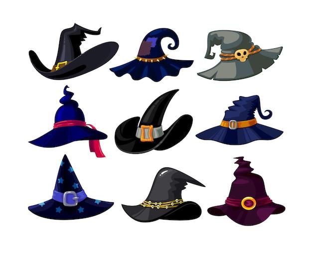 Zestaw kapeluszy czarownic