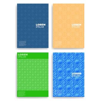 Zestaw kart abstrakcyjnych z warstwami pokrywają się. ma zastosowanie do okładek, plakatów, plakatów, ulotek i projektów banerów.