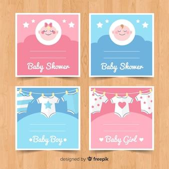 Zestaw kart baby shower