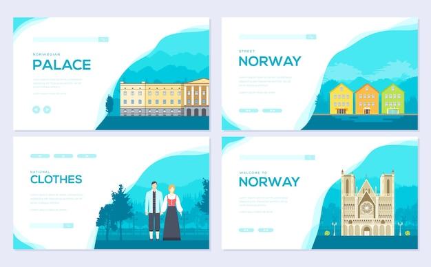 Zestaw kart broszur raditional monument. szablon ulotki, baneru internetowego, nagłówka interfejsu użytkownika, wprowadź witrynę.