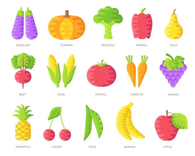 Zestaw kart broszur wegańskich. szablon warzyw. tło koncepcja wegetariańskie zaproszenie.