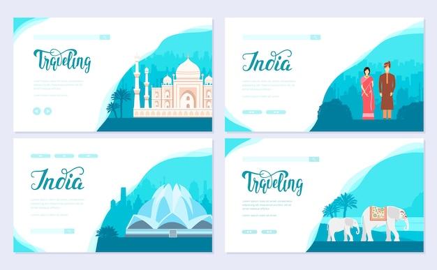 Zestaw kart broszury tradycyjnej kultury. etniczny szablon ulotki, baneru internetowego, nagłówka interfejsu użytkownika, wejście do witryny.