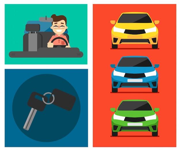 Zestaw kart do wynajęcia samochodu