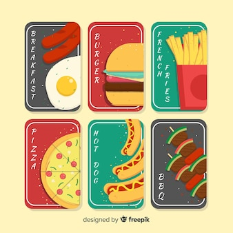 Zestaw kart fast food