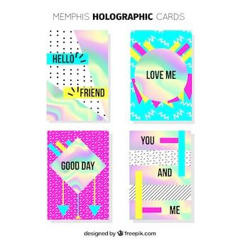 Zestaw kart holograficznych memphis