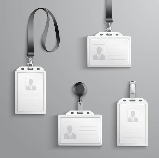 Zestaw kart identyfikacyjnych