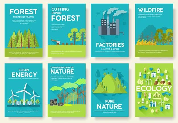 Zestaw kart informacyjnych ekologii