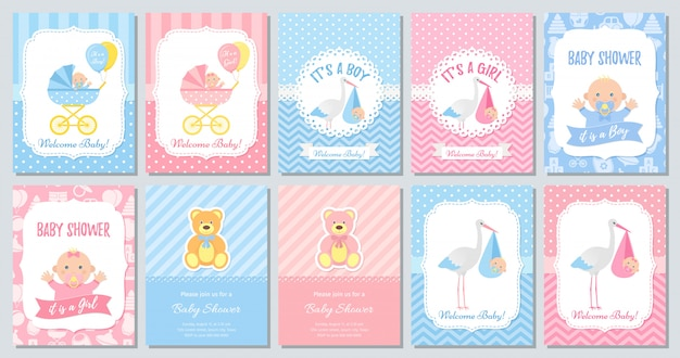 Zestaw kart na baby shower