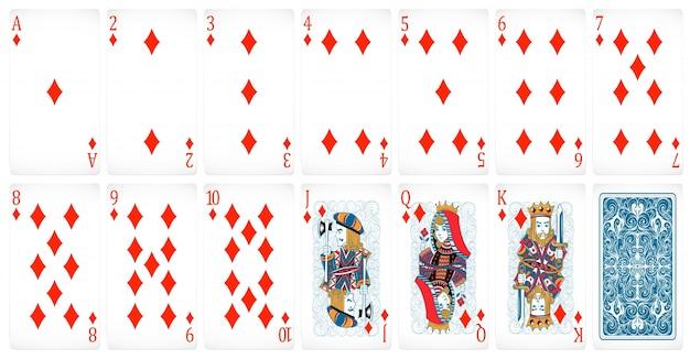 Zestaw kart pokerowych klubu z tyłu projektu