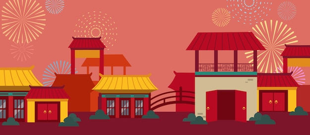 Zestaw kart szczęśliwego chińskiego nowego roku