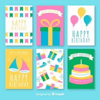 Zestaw kart urodziny