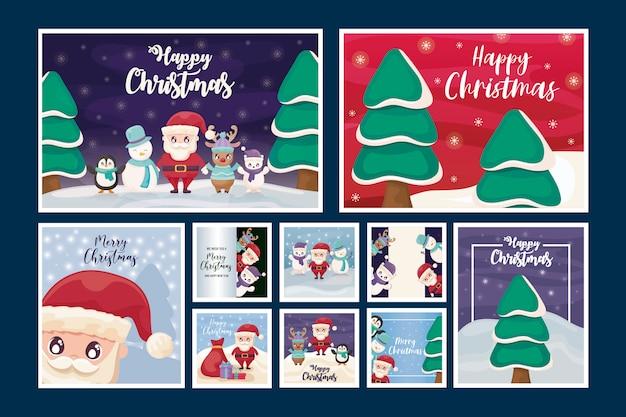 Zestaw kart wesołych świąt