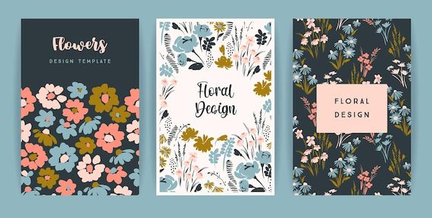 Zestaw kart z kwiatami