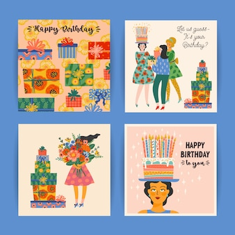 Zestaw kart z okazji urodzin