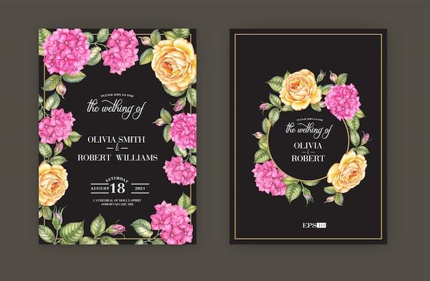 Zestaw kart zaproszenia ślubne