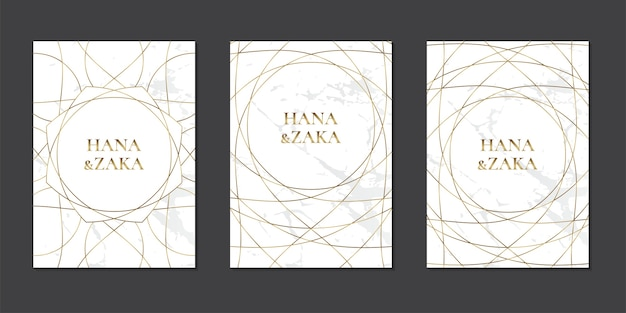 Zestaw kart zaproszenie na ślub