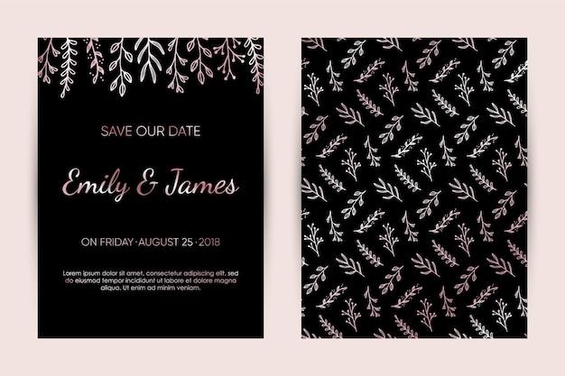 Zestaw kart zaproszenie na ślub.