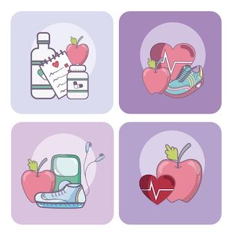 Zestaw kart zdrowia i medycyny