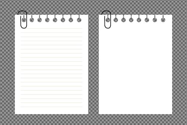 Zestaw kartek a4, z cieniami, realistyczna kartka papieru