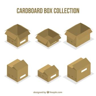 Zestaw Kartonów Do Wysyłki Darmowych Wektorów