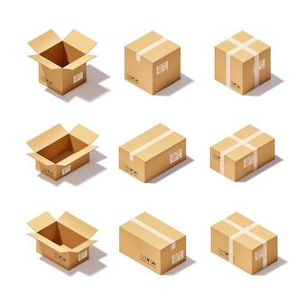 Zestaw kartonowych pudeł