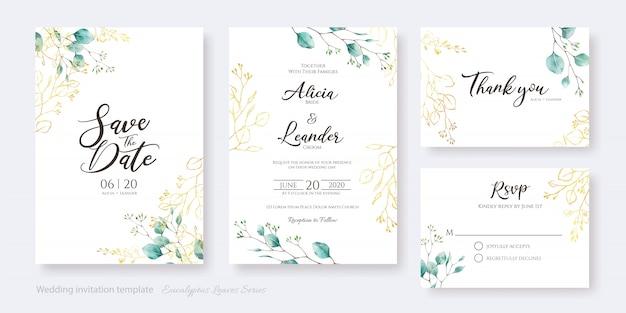 Zestaw karty zaproszenia ślubne