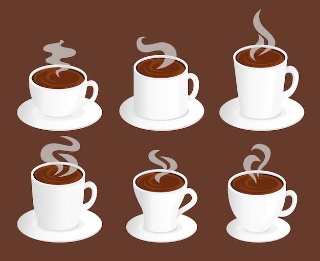 Zestaw kawy ze steamem