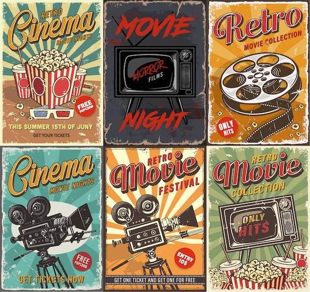 Zestaw kinowy plakatów