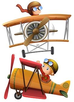 Zestaw klasycznego samolotu
