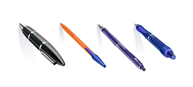 Zestaw klasycznych długopisów