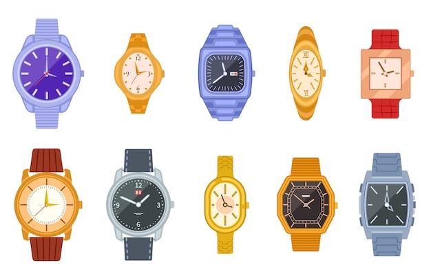 Zestaw klasycznych zegarków